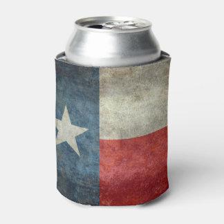 Vintage retro Art der Texas-Staatsflagge kann Dosenkühler