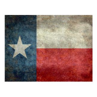 Vintage retro Art der Texas-Staatsflagge Postkarte