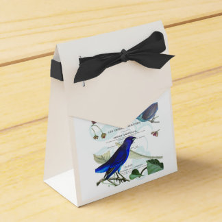 Vintage, Retro Design Frankreich - Vögel Geschenkschachtel