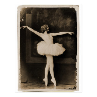Vintage Retro Frauen-Ballett-Tänzer-Frau Postkarten