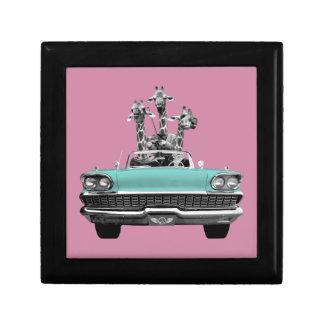 Vintage Retro Gesang-Giraffen Auto-Straße Trip_ Geschenkbox