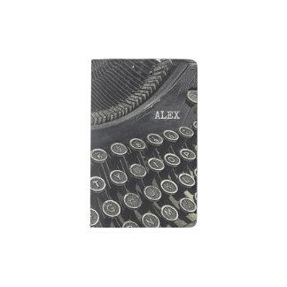Vintage Retro Gewohnheit der Schreibmaschinen-| Moleskine Taschennotizbuch