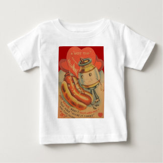 Vintage Retro Hotdog-Senfvalentine-Karte Baby T-shirt