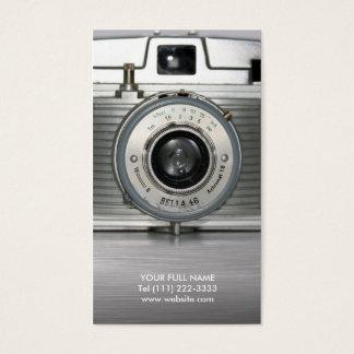 Vintage Retro Kamera Visitenkarte