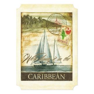 Vintage Retro karibische Wedding Cayman Islands 12,7 X 17,8 Cm Einladungskarte