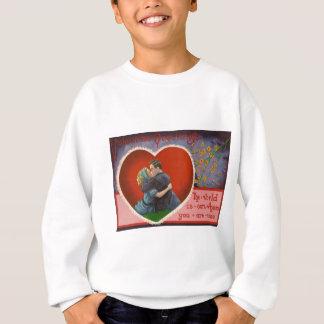 Vintage Retro Kussvalentine-Karte Sweatshirt