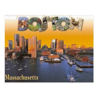 Vintage retro Postkarte Bostons