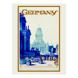 Vintage retro Reiseanzeige Berlins Deutschland Postkarten