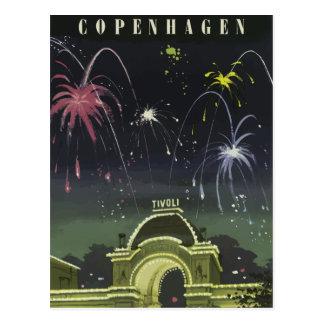Vintage retro Reisepostkarte Dänemark Postkarte
