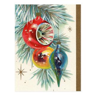 Vintage retro Weihnachtsbirnen Feiertagspostkarte Postkarte