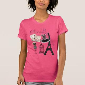 Vintage Romance Mode Chic-Girly rosa Paris T-Shirt