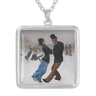 Vintage romantische Eis-Skater Halskette