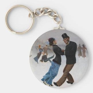 Vintage romantische Eis-Skater Schlüsselband
