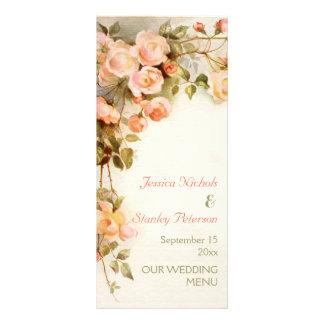Vintage romantische Malerei der Rosen, die Menü