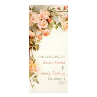 Vintage romantische Malerei der Rosen, die Werbekarte