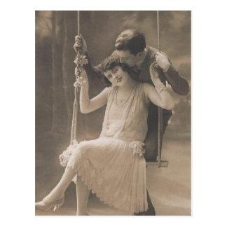 Vintage romantische Paar-Karten und Geschenke - Pr Postkarten