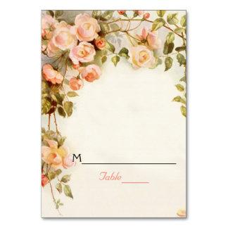 Vintage romantische Rosen, die Platzkarte wedding Karte