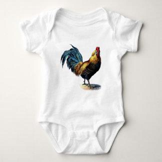 Vintage rooster baby strampler