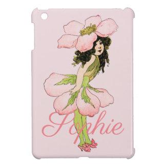 Vintage rosa Blumen-Fee Personnalised iPad Mini Hülle