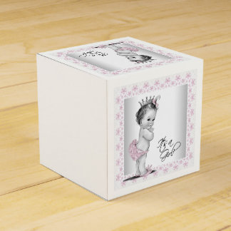 Vintage rosa Dusche Prinzessin-Baby Geschenkkartons