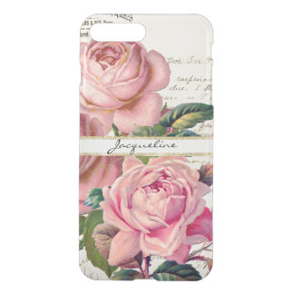 Vintage rosa englische Skript-Beschriftungs-Kunst iPhone 8 Plus/7 Plus Hülle