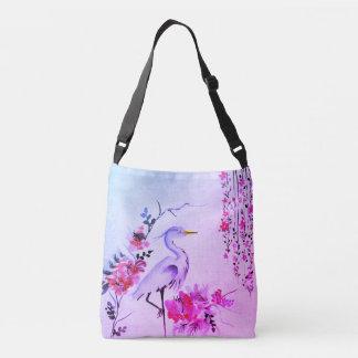 Vintage rosa lila Taschentasche der hübschen Tragetaschen Mit Langen Trägern