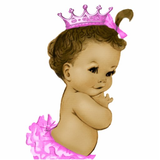 Vintage rosa Mädchen-Dusche Prinzessin-Baby Acrylausschnitt