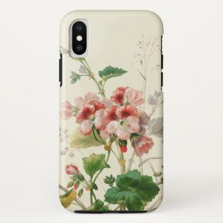 Vintage rosa Pelargonien iPhone X Hülle
