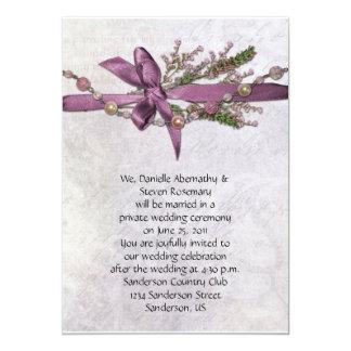 Vintage rosa Posten-Hochzeits-Feier Invitiation 12,7 X 17,8 Cm Einladungskarte