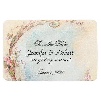 Vintage rosa Rose und Robin, die Save the Date Magnet
