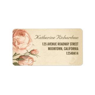 Vintage rosa Rosen, die Adressen-Etiketten wedding Adress Aufkleber