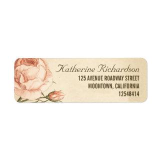 Vintage rosa Rosen, die Adressen-Etiketten wedding Kleiner Adressaufkleber