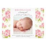 Vintage rosa Rosen-Foto-Geburtstags-Party Personalisierte Einladung