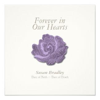 Vintage Rose für immer in unserem Herz-Begräbnis Karte
