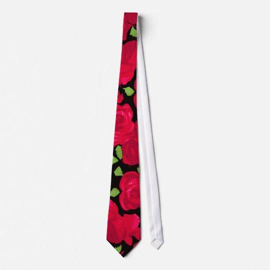 Vintage Rose Romantic Bedruckte Krawatten