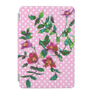 Vintage Rose - rosa und weiße Polkapunkte iPad Mini Hülle