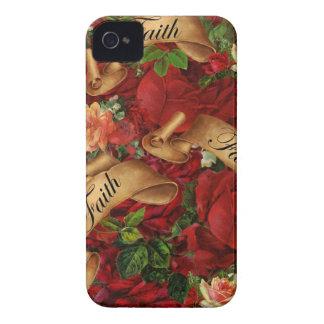 Vintage Rosen des Glauben-BlackBerry-Kastens iPhone 4 Case-Mate Hüllen