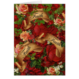 Vintage Rosen des Glaubens Karte