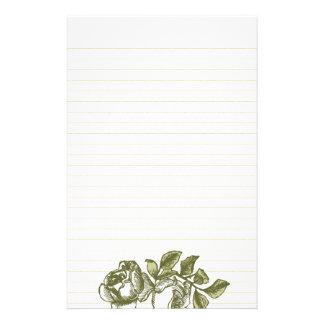 Vintage Rosen, die Gold gezeichnetes Briefpapier