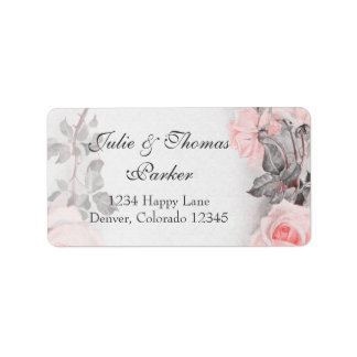 Vintage Rosen-Hochzeits-Adressen-Etiketten Adressetikett