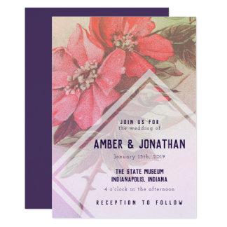 Vintage Rosen-Hochzeits-Einladung Karte