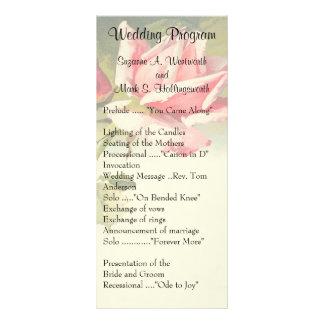 Vintage Rosen-Hochzeits-Programme Werbekarte