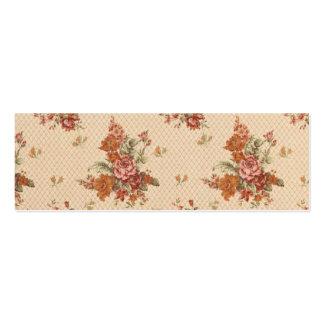 Vintage Rosen-Muster-Hintergrund-Rosa-Rosen-Blumen Mini-Visitenkarten