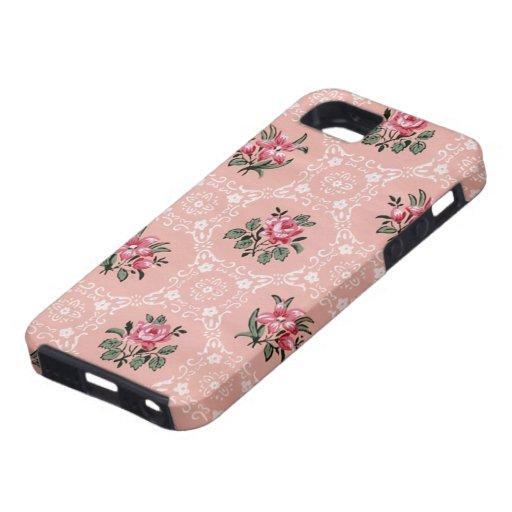 vintage rosen tapete iphone 5 fallabdeckung iphone 5 cover zazzle. Black Bedroom Furniture Sets. Home Design Ideas