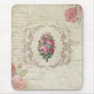 Vintage Rosen und Stich Mousepad