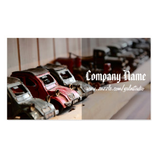 Vintage rote Autos Visitenkarten