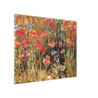 Vintage rote Blumen, Mohnblumen durch Robert Leinwanddruck