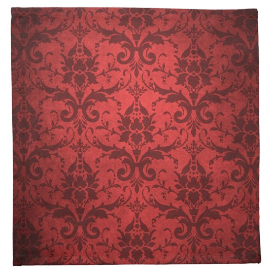 Vintage rote damast tapete stoffserviette zazzle for Rote tapete