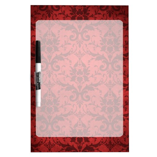 Individuell Bedruckte Tapete : Vintage rote Damast-Tapete Whiteboards Zazzle