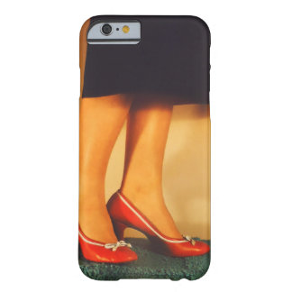 Vintage rote hohe Fersen-Schuhe Barely There iPhone 6 Hülle